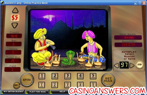 aladdins lamp flash bonus game