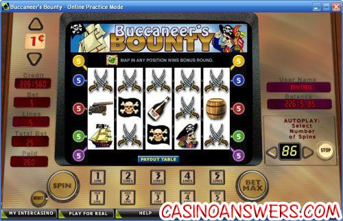buccaneers bounty classic slot