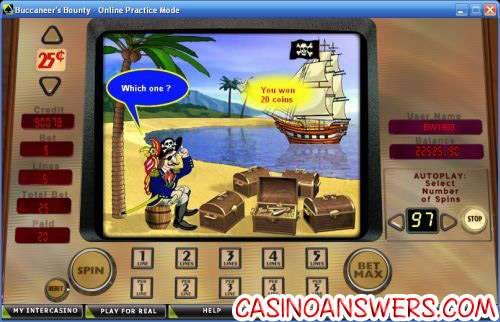buccaneers bounty 5 reel bonus game