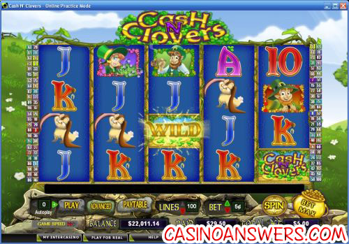 cash n clovers video slot