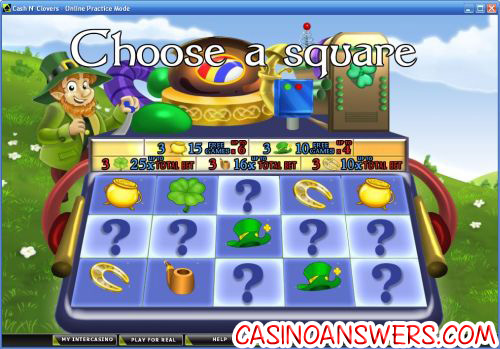 cash n clovers casino flash game
