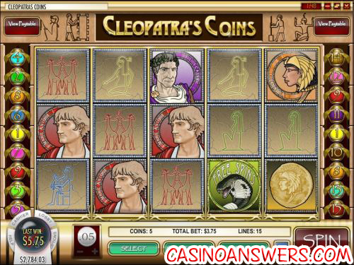 cleopatras coin video slot