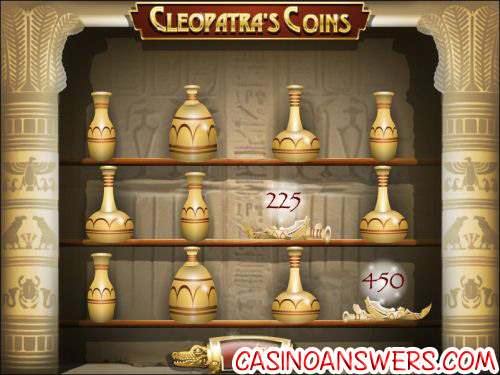 cleopatras coin flash bonus game