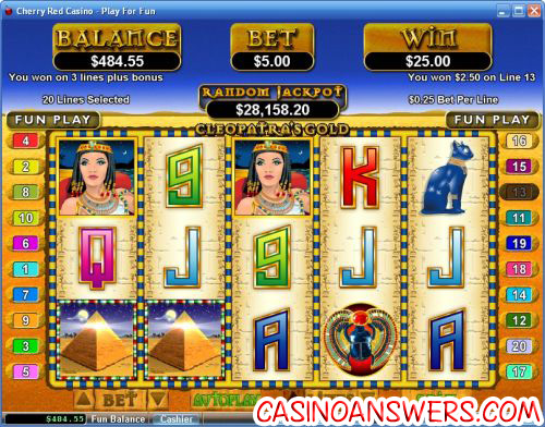 cleopatras gold video slot