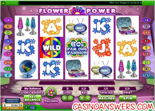 flower power video slot