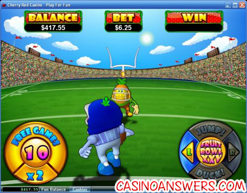 fruit bowl football bonus game