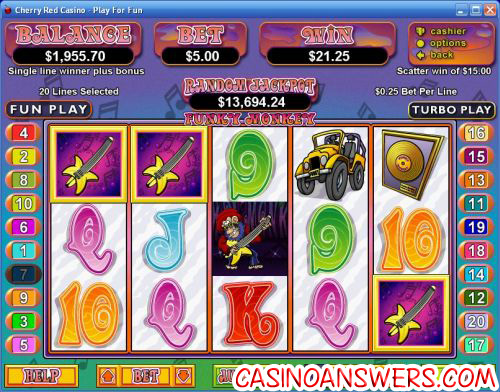 funky monkey rtg video slot