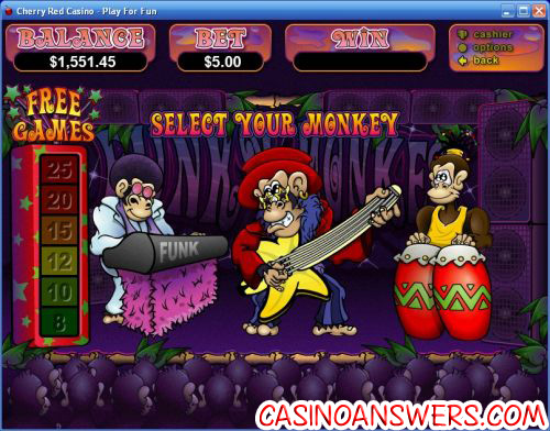 funky monkey bonus game