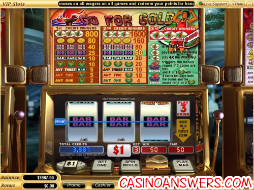 go for gold vegas tech video slot