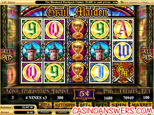 grail maiden video slot