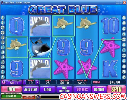 great blue casino game