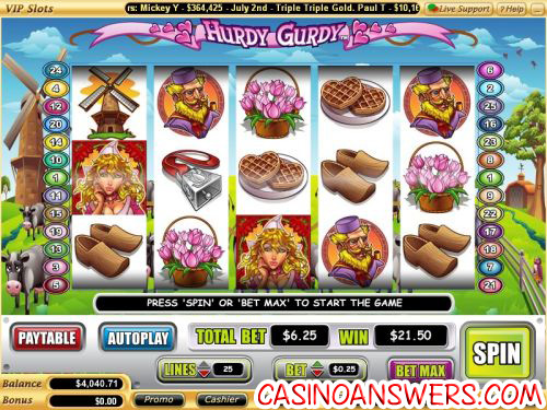 hurdy gurdy video slot