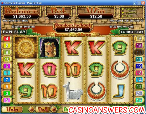 incan goddess video slot