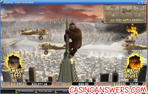 king kong casino bonus game