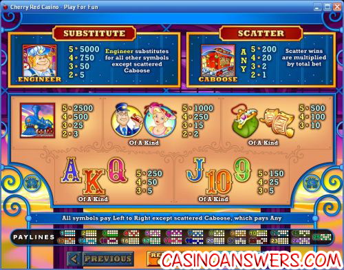 loose caboose casino bonus game