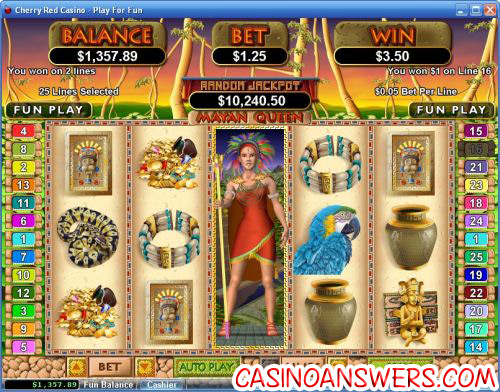 mayan queen video slot
