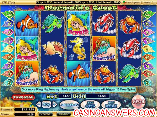 mermaids quest video slot