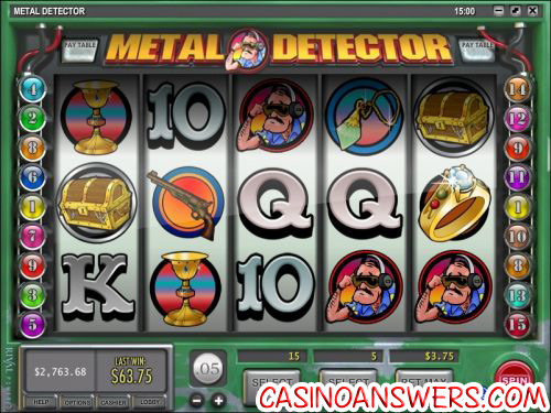 metal detector video slot