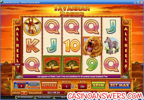 savannah sunrise video slot