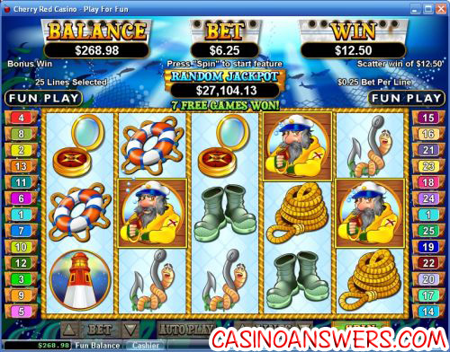 sea captain video slot