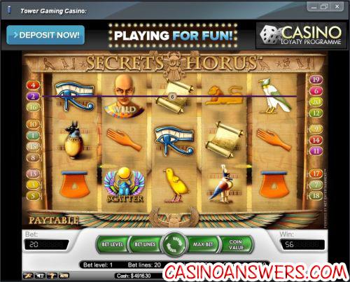 Review The Secrets Of Horus No Download Slots