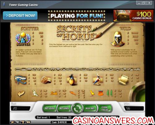 secrets of horus flash game