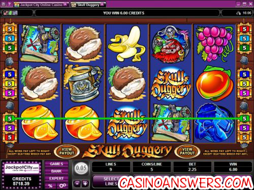 skull duggery video slot