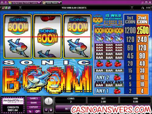 sonic boom classic slot