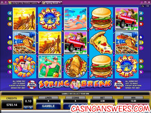 spring break video slot