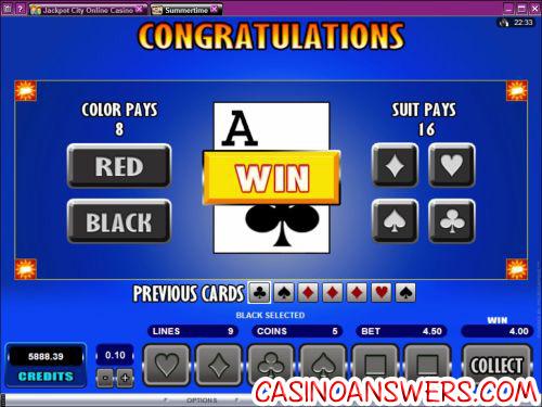 summertime casino bonus flash game