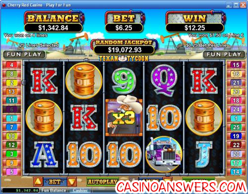 texan tycoon video slot