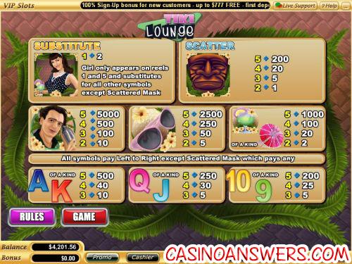 tiki lounge casino flash game