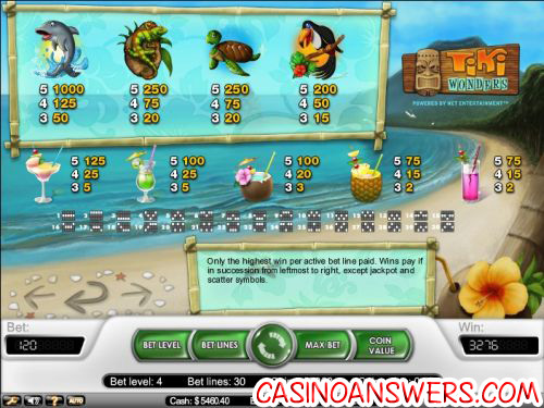 tiki wonders casino flash game