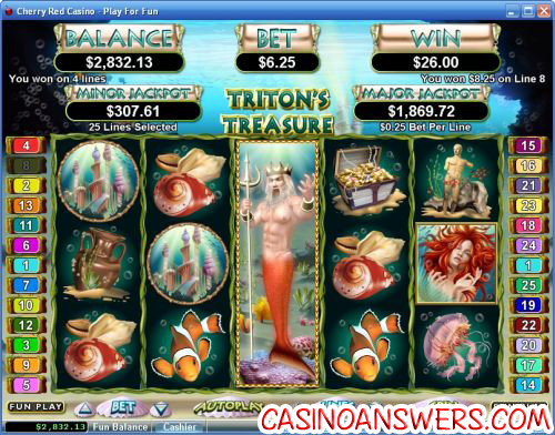 tritons treasure video slot