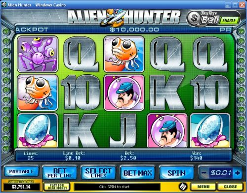 alien hunter playtech video slot