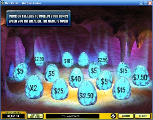 alien hunter casino game