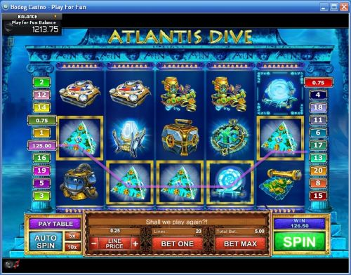 atlantis dive video slot