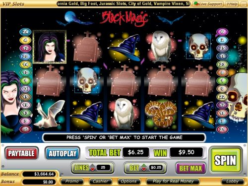 black magic video slot