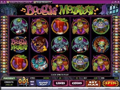 boogie monsters video slot