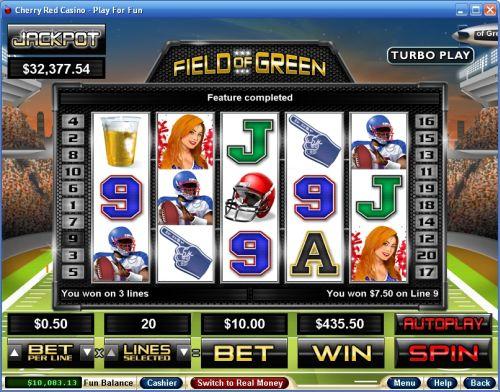 field of green video slot