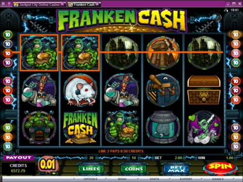 franken cash video slot