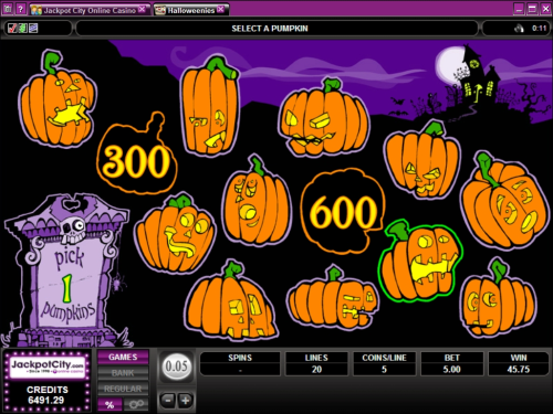 halloweens video bonus game