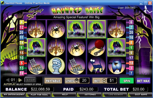 haunted house video slot