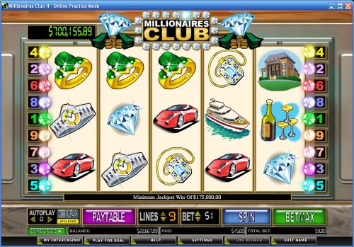 millionaires club 2 progressive jackpot