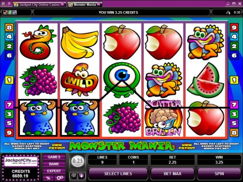 monster mania video slot