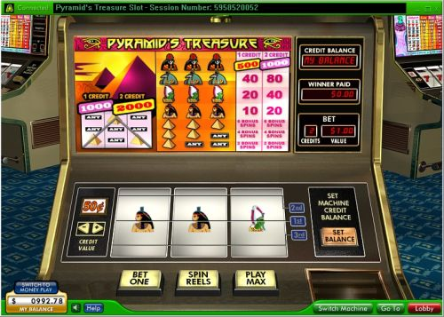 pyramids treasure classic slot