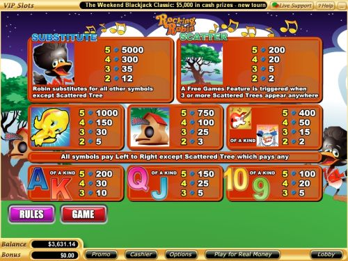 rocking robin casino bonus game