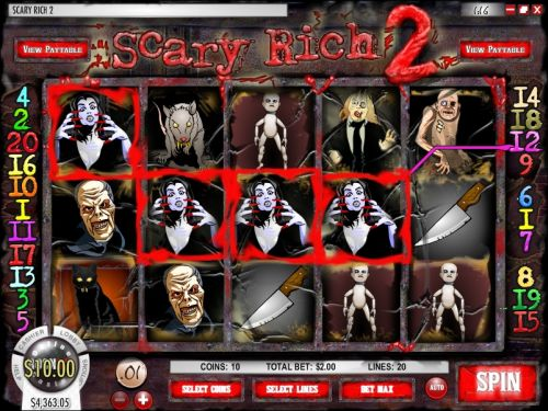 scary rich sequel video slot