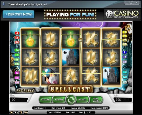 spellcast net ent video slot