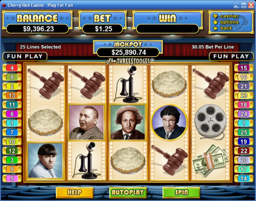 three stooges flash casino game